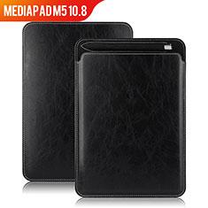 Custodia Portafoglio In Pelle con Supporto per Huawei MediaPad M5 10.8 Nero
