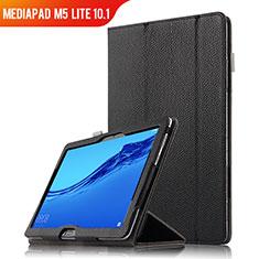 Custodia Portafoglio In Pelle con Supporto per Huawei MediaPad M5 Lite 10.1 Nero
