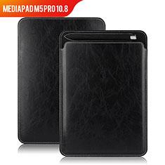 Custodia Portafoglio In Pelle con Supporto per Huawei MediaPad M5 Pro 10.8 Nero