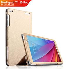 Custodia Portafoglio In Pelle con Supporto per Huawei Mediapad T1 10 Pro T1-A21L T1-A23L Oro