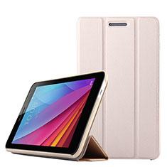 Custodia Portafoglio In Pelle con Supporto per Huawei Mediapad T1 7.0 T1-701 T1-701U Oro