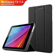 Custodia Portafoglio In Pelle con Supporto per Huawei Mediapad T2 7.0 BGO-DL09 BGO-L03 Nero