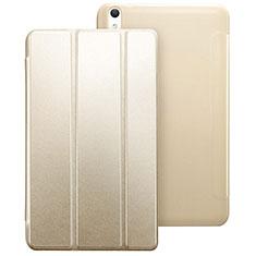 Custodia Portafoglio In Pelle con Supporto per Huawei MediaPad T2 8.0 Pro Oro