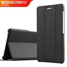 Custodia Portafoglio In Pelle con Supporto per Huawei MediaPad T2 Pro 7.0 PLE-703L Nero