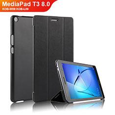 Custodia Portafoglio In Pelle con Supporto per Huawei MediaPad T3 8.0 KOB-W09 KOB-L09 Nero