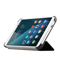 Custodia Portafoglio In Pelle con Supporto per Huawei MediaPad X2 Nero