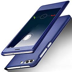 Custodia Portafoglio In Pelle con Supporto per Huawei Nova 2S Blu