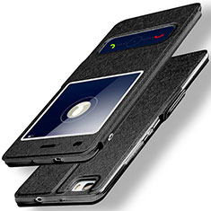 Custodia Portafoglio In Pelle con Supporto per Huawei P8 Lite Nero