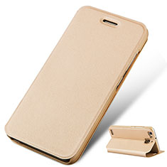 Custodia Portafoglio In Pelle con Supporto per Huawei P8 Lite Smart Oro