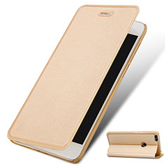 Custodia Portafoglio In Pelle con Supporto per Huawei P9 Lite Mini Oro