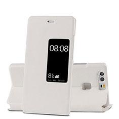 Custodia Portafoglio In Pelle con Supporto per Huawei P9 Plus Bianco