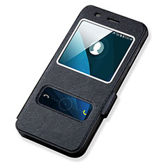 Custodia Portafoglio In Pelle con Supporto per Huawei Y6 Nero