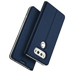 Custodia Portafoglio In Pelle con Supporto per LG G6 Blu