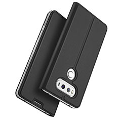 Custodia Portafoglio In Pelle con Supporto per LG G6 Nero