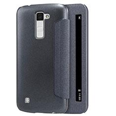 Custodia Portafoglio In Pelle con Supporto per LG K10 Nero