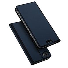 Custodia Portafoglio In Pelle con Supporto per LG Q6 Blu