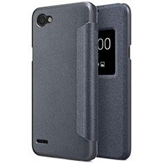 Custodia Portafoglio In Pelle con Supporto per LG Q6 Nero