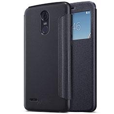 Custodia Portafoglio In Pelle con Supporto per LG Stylus 3 Nero
