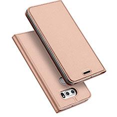 Custodia Portafoglio In Pelle con Supporto per LG V30 Oro Rosa