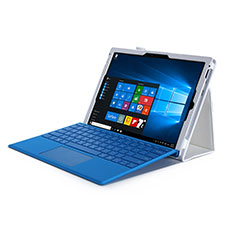 Custodia Portafoglio In Pelle con Supporto per Microsoft Surface Pro 4 Bianco