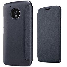 Custodia Portafoglio In Pelle con Supporto per Motorola Moto G5 Nero