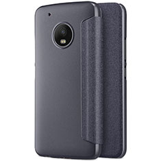 Custodia Portafoglio In Pelle con Supporto per Motorola Moto G5 Plus Nero