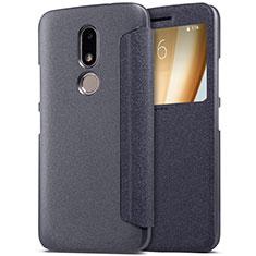 Custodia Portafoglio In Pelle con Supporto per Motorola Moto M XT1662 Nero