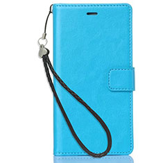Custodia Portafoglio In Pelle con Supporto per Nokia 3.1 Plus Cielo Blu