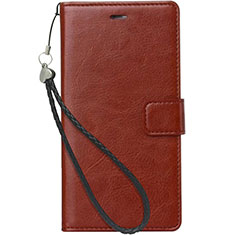 Custodia Portafoglio In Pelle con Supporto per Nokia 3.1 Plus Marrone