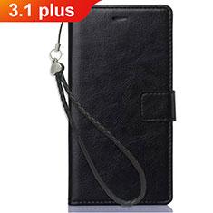 Custodia Portafoglio In Pelle con Supporto per Nokia 3.1 Plus Nero