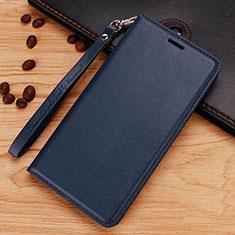 Custodia Portafoglio In Pelle con Supporto per Nokia 7.1 Plus Blu
