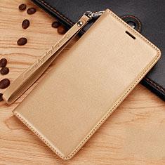 Custodia Portafoglio In Pelle con Supporto per Nokia 7.1 Plus Oro