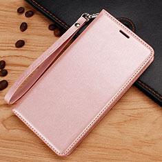 Custodia Portafoglio In Pelle con Supporto per Nokia 7.1 Plus Oro Rosa