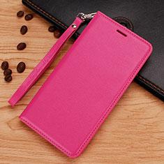 Custodia Portafoglio In Pelle con Supporto per Nokia 7.1 Plus Rosa Caldo