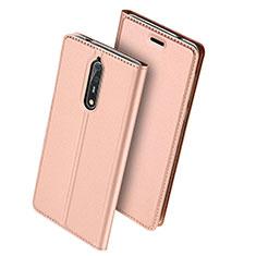 Custodia Portafoglio In Pelle con Supporto per Nokia 8 Rosa