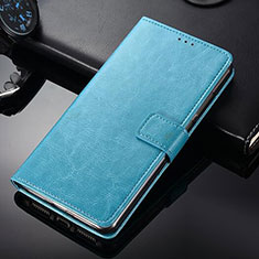 Custodia Portafoglio In Pelle con Supporto per Nokia 9 PureView Cielo Blu