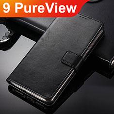 Custodia Portafoglio In Pelle con Supporto per Nokia 9 PureView Nero