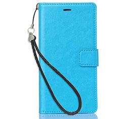 Custodia Portafoglio In Pelle con Supporto per Nokia X3 Cielo Blu