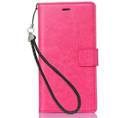 Custodia Portafoglio In Pelle con Supporto per Nokia X3 Rosa Caldo