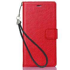 Custodia Portafoglio In Pelle con Supporto per Nokia X3 Rosso