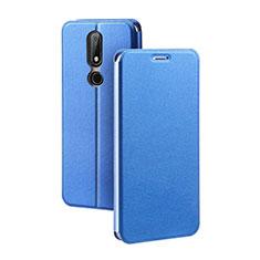 Custodia Portafoglio In Pelle con Supporto per Nokia X5 Blu