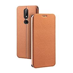 Custodia Portafoglio In Pelle con Supporto per Nokia X5 Marrone