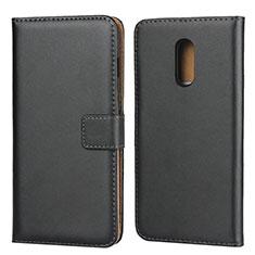 Custodia Portafoglio In Pelle con Supporto per OnePlus 7 Nero