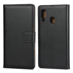 Custodia Portafoglio In Pelle con Supporto per Samsung Galaxy A20e Nero