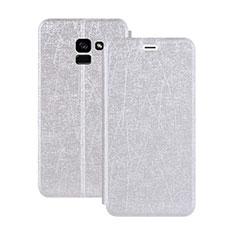 Custodia Portafoglio In Pelle con Supporto per Samsung Galaxy A5 (2018) A530F Bianco