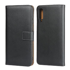 Custodia Portafoglio In Pelle con Supporto per Samsung Galaxy A50 Nero