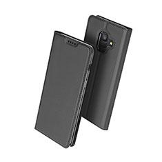 Custodia Portafoglio In Pelle con Supporto per Samsung Galaxy A6 (2018) Nero