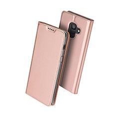 Custodia Portafoglio In Pelle con Supporto per Samsung Galaxy A6 (2018) Oro Rosa