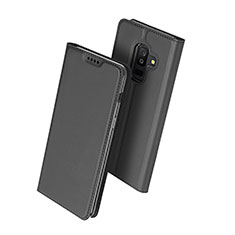 Custodia Portafoglio In Pelle con Supporto per Samsung Galaxy A6 Plus (2018) Nero