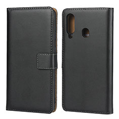 Custodia Portafoglio In Pelle con Supporto per Samsung Galaxy A60 Nero